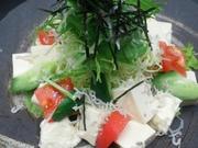 身体に良い豆腐のサラダ