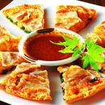 韓国風チーズチヂミ