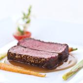 黒毛牛ロースのステーキポワブル ブランデー風味