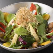 旬の野菜の持ち味、香り、食感も楽しめます