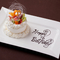 誕生日・記念日には、事前予約でメッセージ入りケーキをご用意