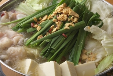 天然ダシの和風白モツ鍋(二人前より)
