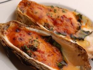牡蠣のインペリアルソースオーブン焼き