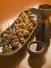 大山地鶏の串もの(6種)