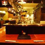 ルミネ前の和食店:つゆで頂く豚しゃぶと鮮魚、日本酒、焼酎。