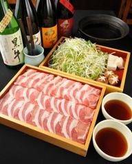 「つゆ」で食べる豚しゃぶは野菜と一緒に食べられるので女性にも好評[祝日・日曜[営業時]は150分制]