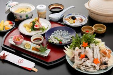 冬の旬味。ふぐ料理 兼続コース4200円 謙信コース5250円