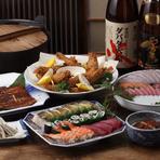 うな泰自慢の旬の食材からうなぎ料理はもちろんを、手間隙かけた料理でおもてなし致します。