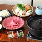 ○さくら鍋(馬肉のすきやき)