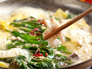 九州の料理に欠かせないもつ鍋の「ホルモン」にこだわります