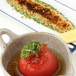 『まるごとトマトの冷製』&『ベイクドアボカド』