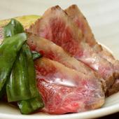 店主納得の肉をぜいたくなコースで『和創米澤牛焼コース』