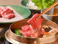 庭園を眺めながら、『米沢牛すき焼き』のとろける味わいを堪能