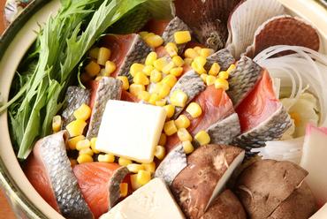 北海道郷土料理「石狩鍋」創業45年秘伝の味噌鍋をご賞味ください