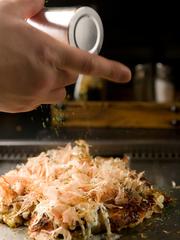 ふわふわのお好み焼き、鉄板焼き各種がお手頃価格でご案内できます!! 【女子会】【宴会】にもお勧めです。