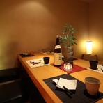 居心地抜群の個室は、大事な接待やここぞの宴会にぴったり。