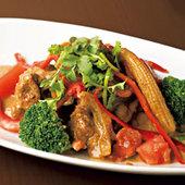 野菜たっぷりガパオ炒め
