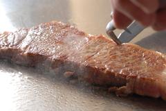 日本料理3品とステーキ