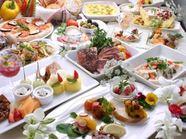 60種類以上のお料理を準備してお待ちしております