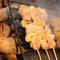 炭火で焼き上げる串焼。
