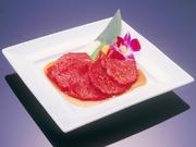 脂のないやわらかい赤身の上質肉。