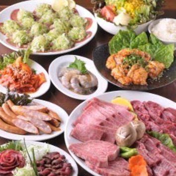 もりもり風よくばり食べ放題コース(一番人気!)
