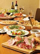 4~20名様までのコース料理。前菜、ピッツァ、パスタのサルバトーレのパーティーコースをご利用ください