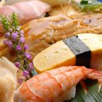 本格職人が握る自慢の『絶品! 江戸前寿司』や『刺し盛り』など新鮮な魚介類のメニューをメインにした、大変お得なコースメニューは会社や友人・知人での宴会~ちょっとしたパーティなどにも最適です。