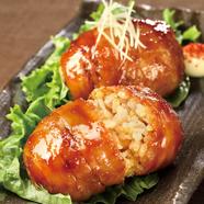 黒さつま鶏 骨付き塚田焼(薬味5種盛り付き)