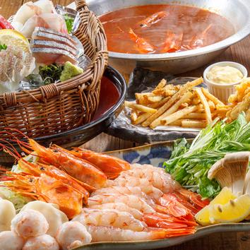 ◆2h飲み放題付 海老鍋コース