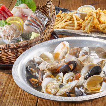 ◆2h飲み放題付 漁師の貝風呂コース (塩バター)