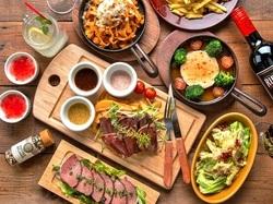 当店人気No.1肉宴会プラン 自慢の肉料理はもちろん、女性に嬉しいチーズメニューも豊富に