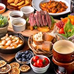 絶品イタリアンをお手軽に♪チーズフォンデュ&グリル肉orお鍋の選べるメイン付★3時間飲み放題付<全6品>