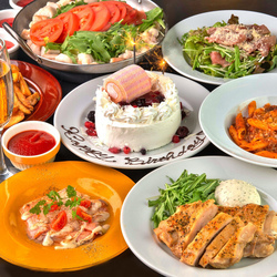 絶品イタリアンをお手軽に♪前菜からメイン・デザートまでバランスの良いプラン!3時間飲み放題付<全6品>