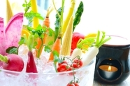 新鮮野菜は産地直送『彩り野菜の農園バーニャカウダ』