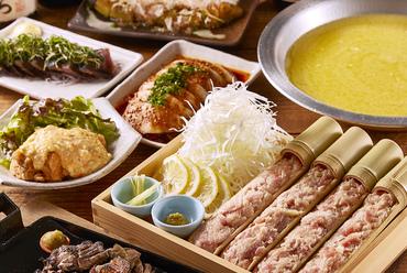 2h飲み放題付き! 春を代表する食材のひとつ「タケノコ」が入った地鶏の生つくねコース ※3月1日~ご提供