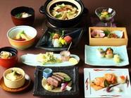 全国各地から届く産地自慢の食材に匠の技が加わり完成『日会食』