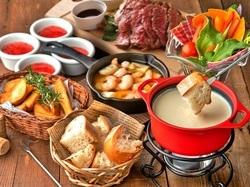 3時間飲み放題付【7品】メインは大胆に「1ポンド肉」を使用!大迫力のステーキor肉鍋をご用意しました♪