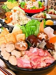 この冬の忘年会に一番お勧め!寒い冬は万作自慢の鶏鍋で温まりましょう!飲み放題なしは4,000円