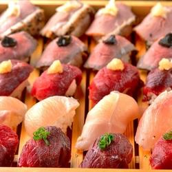 3時間飲み放題《7品》今話題の「肉握り」が宴会プランで新登場!肉割烹をお手軽に楽しみたい方に◎