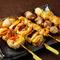日本のブランド地鶏を多数使用。厳選の食材で作る多彩な鶏料理