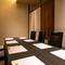 接待から宴会、デートにも。4~12名まで利用できる半個室空間