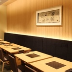 最大12名まで可能な個室やコース料理も充実し、接待もおまかせ