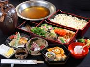 四季折々の食材が愉しめる、ボリューム満点の絶品コース『うどんすきコースあおい』