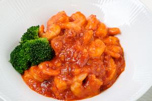 後引く美味しさがたまらない『海老のチリソース煮(通常サイズ)』