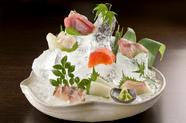 朝どれの魚をその日のうちに味わう『博多長浜漁港直送 鮮魚の7点盛合わせ』