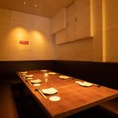 接待・会食に最適な個室を2部屋完備
