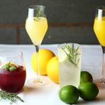 旬の国産オレンジを使用したカクテルやワインカクテル