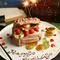 ハッピーな記念日、お誕生日には、特製ケーキでお祝いを