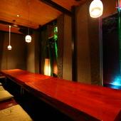 12名までの会食に。風情溢れる和テイストの完全個室